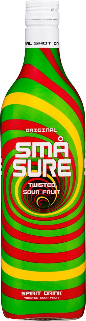 Små Sure Twisted Sour Fruit